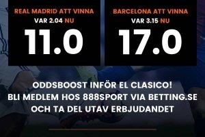 Real Madrid - Barcelona Oddsboost