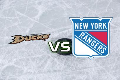Anaheim Ducks - New York Rangers:  2