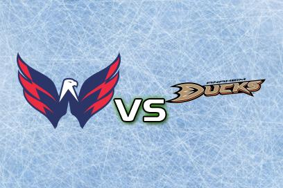 Washington Capitals - Anaheim Ducks:  Över 6,0