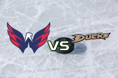 Washington Capitals - Anaheim Ducks:  Över 32,5 Antal skott Washington
